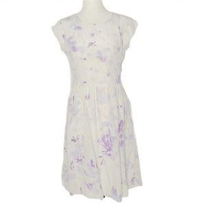 Rebecca Taylor watercolor floral silk dress sz 4